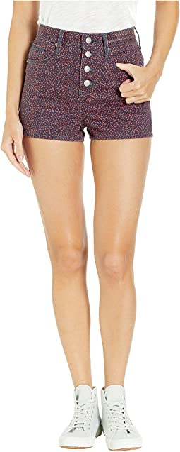 Laurel Ditsy Printed Denim Shorts