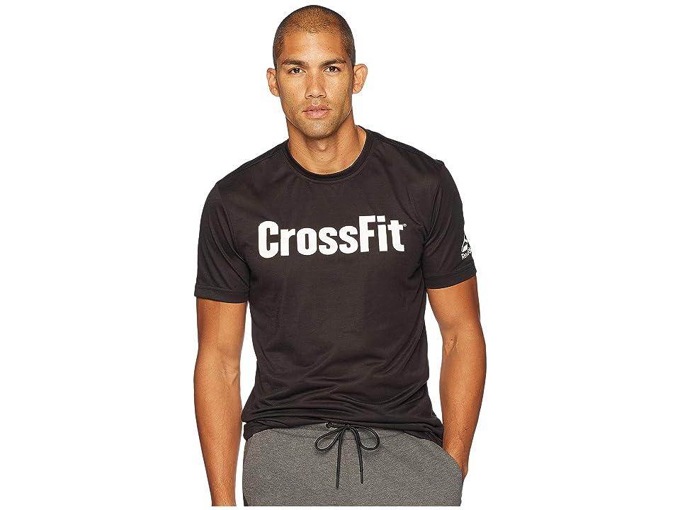 Reebok Crossfit Forging Elite Fitness Tee (Black/White) Men