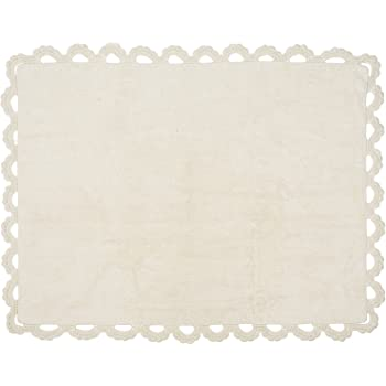 Aratextil. Alfombra Infantil 100% Algodón lavable en lavadora Colección Versalles Beige 120x160 cms: Amazon.es: Bebé