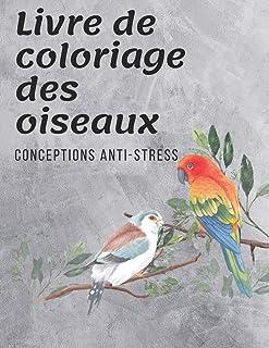 Livre de coloriage des oiseaux: Livre de coloriage oiseau 90 pages pour adultes. Conceptions anti-stress pour la relaxatio...
