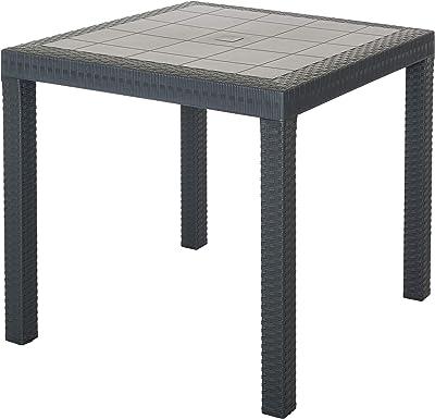 TABLA DALLAS CM 80X80X74H ANTRACITE