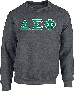 Fashion Greek Delta Sigma Phi Twill Letter Crewneck Sweatshirt