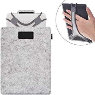 TFY Protective Carrying Pouch Bag (Grey) Plus Bonus Hand Strap Holder for for 7 ? 8 inch Tablets - Fire 7/Fire HD 8/iPad M...
