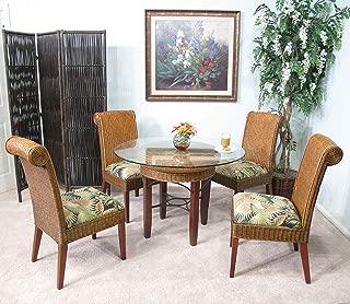 kingrattan.com Rattan and Wicker Dining Room Furniture 5 Piece Set (#2517-BC)