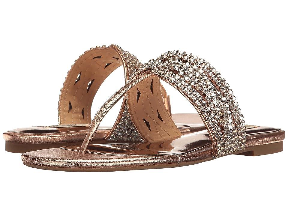 Badgley Mischka Trent (Rose Gold Metallic Leather) Women