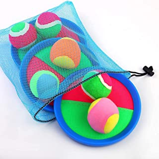 Toss and Catch Ball Set Paddles and Toss Ball Sports Game with 6 Paddles 6 Balls for Sports, Beach and Party Favor,Perfect...