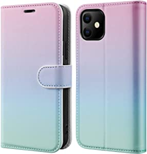 BEMAL iPhone 11 Wallet Case with Screen Protector,iPhone 11 Flip Case with RFID Blocking Credit Card Holders,Folio PU Leather Cover with Designs Phone Case for iPhone 11 6.1