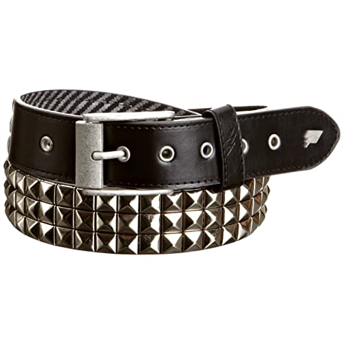 Triple S Studded Faux Leather Belt