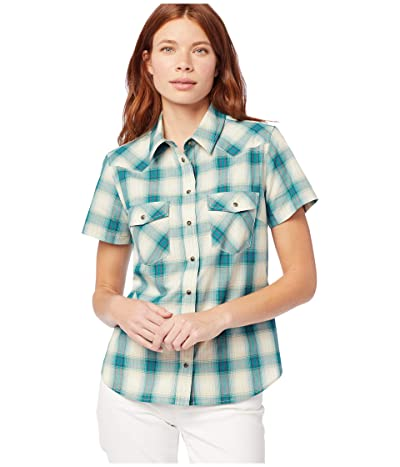Pendleton Short Sleeve Frontier Shirt (Aqua Multi) Women