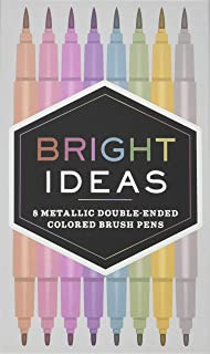 Bright Ideas: 8 Metallic Double-Ended Colored Brush Pens