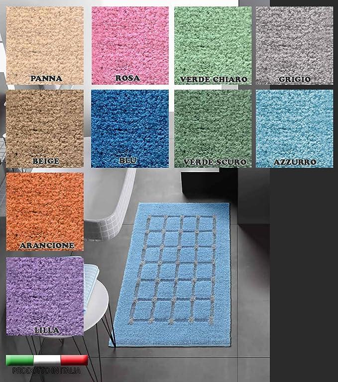 40x60 cm Beige Centesimo Web Shop Tappeto Bagno in 2 Misure E 5 Colori Prodotto in Italia Tessuto Misto Cotone SCENDIDOCCIA Cuori Cuore Cuoricini