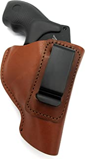 HOLSTERMART USA by CEBECI ARMS Right Hand Inside Pants IWB AIWB Open Top Concealment Holster in Brown Leather for COLT 38 Special Agent, Detective, Cobra 2017 Revolver, 2