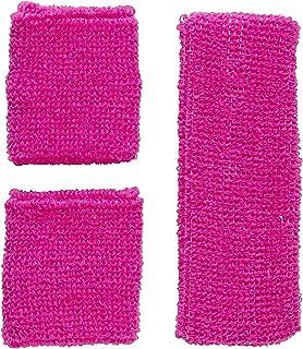 Widmann Widmann 05832 - Neon Schweißbänder, Stirnband und 2 Armbänder, pink, 80er Jahre, Kleidungszubehör, Retro Style, Sport- und Fanwelt, Disco, Motto Party, Karneval