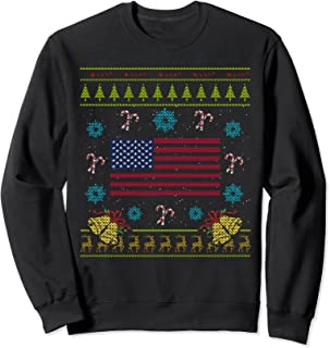 American Flag Ugly Christmas Sweatshirt