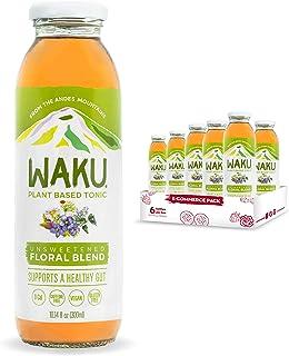 Waku Iced Tea - Unsweetened Floral Blend - All Natural Herbal Tea Brewed With Mint, Lemon Balm, Lemongrass,...