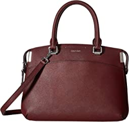 Raelynn Saffiano Leather Satchel