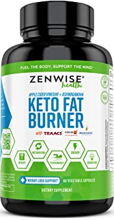 Keto Fat Burner - Ketogenic Diet Pills with Apple Cider Vinegar, Ashwagandha, Forskolin & Caffeine - Thermogenic Fat Burners + Metabolism & Energy Supplement - 60 Capsules