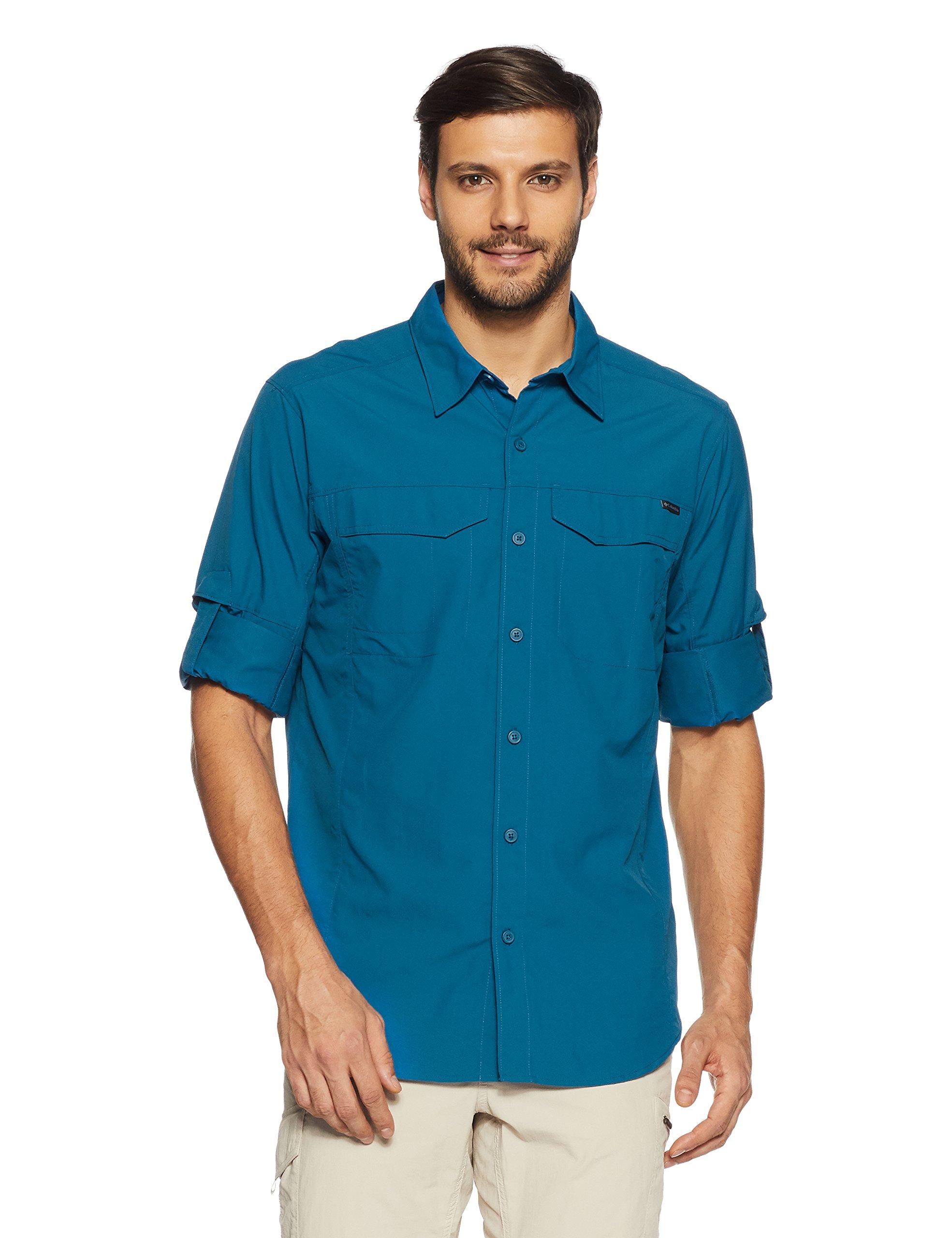 Columbia Camisa de Manga Corta para Hombre Modelo Silver Ridge, Hombre, AM7453, Phoenix Blue, XX-Large: Amazon.es: Deportes y aire libre