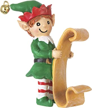 Darice Mini Boy Elf with List: Christmas, 2 x 2.63 inches, Multicolor