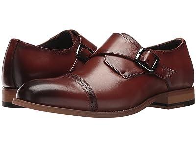 Stacy Adams Desmond Cap-Toe Monk-Strap Loafer (Cognac) Men