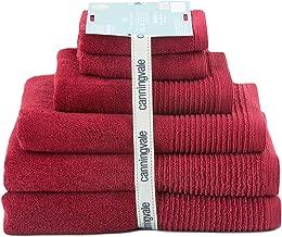 Roman Red Oslo 6 Piece Set Premium Towel- 2 Bath Towels, 1 Hand Towe,l 2 Face Towel, 1 Mat Towel