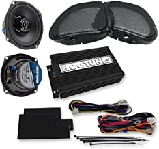 Hogtunes FLSK REV-AA Combo Includes: 352F-AA Front Speaker + REV200-AA 2 200 Channel 200 watt Amp + Grills