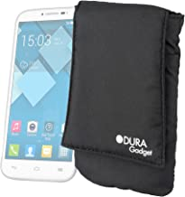 DURAGADGET Padded Mobile Phone Sleeve with Pocket & Belt Loop - Suitable for Alcatel Pop S7| Alcatel OT-808| Alcatel One Touch 6010| Alcatel One Touch 20 05| One Touch 20 10 & Pantech Burst (AT&T)