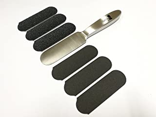 REUSABLE STAINLESS STEEL PEDICURE FOOT FILE WITH DISPOSABLE REFILL PADS