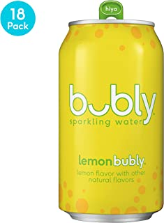 bubly Sparkling Water, Lemon, 12 Fluid Ounces cans (18 Pack)