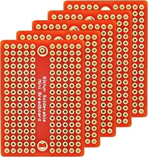 Gikfun Mini Solder-able Breadboard Gold Plated Finish Proto Board PCB for Arduino Electronic DIY (Pack of 5PCS) GK1009