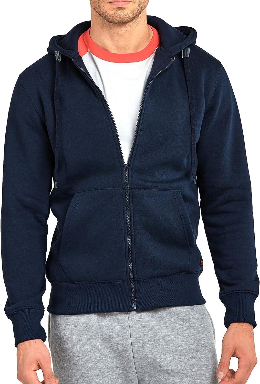 ToBeInStyle Men's Long Sleeve Kangaroo Pocket Zip up Hoodie
