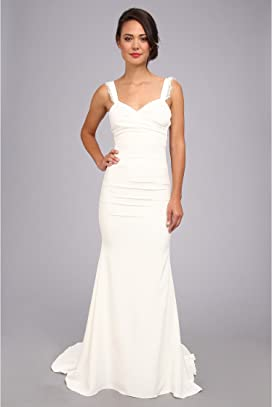 ddc41c004335 Nicole Miller Hampton Lace Back Gown at Zappos.com