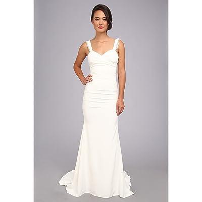 Nicole Miller Alexis Low Back Bridal Gown (Antique White) Women
