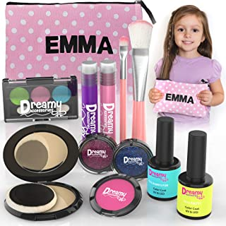 Pretend Play Makeup for Girls - with Customizable Cosmetic Bag - No Mess  Makeup for Little Kids w/ Real Makeup Brushes Pr...