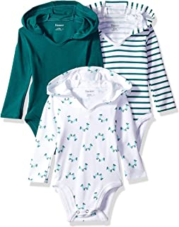 Ultimate Baby Flexy 3 Pack Hoodie Bodysuits