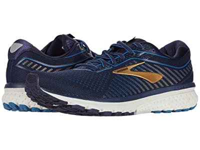 Brooks Ghost 12 (Navy/Deep Water/Gold) Men