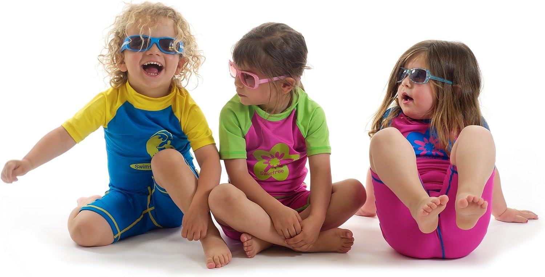 Baby Infant Size L Sun Uv Protection One-Piece Blue/Orange Swimsuit SPF+50 Swim Suit for Kids Age 24-36 Month