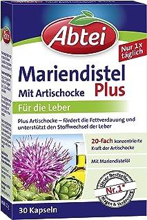 Abtei Mariendistelöl Plus Artischocke mit Vitamin E Kapseln, gesunde Verdauung,..