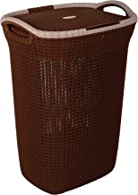 Nayasa Rope Multipurpose Plastic Laundry Basket - (Small) Dark Brown