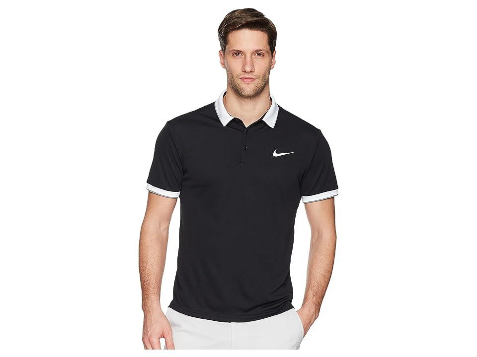 Nike Court Dry Tennis Polo (Black/White/Cool Grey/White 1) Men