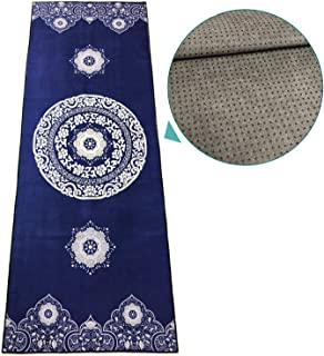 zapita Anti-Slip Yoga Mat Towel (Double-Layer Composite Material & Silicone Dots) / Avoid Bunching up/Foldable Travel Mat for Hot Yoga, Bikram, Vinyasa, Floor Exercises