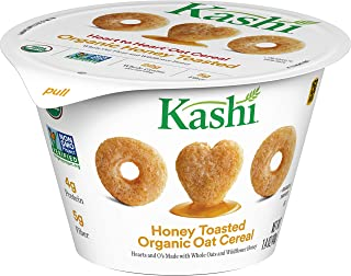 Kashi Organic Honey Toasted Oat Cereal - Breakfast In A Cup, Bulk Size -12 Count 1.4 oz Cups