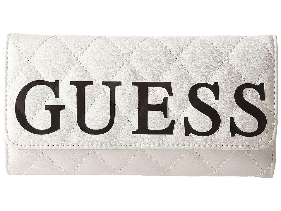 GUESS Sweet Candy SLG Multi Clutch (White Multi) Wallet Handbags