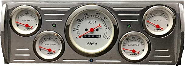 Dolphin Gauges 1941 1942 1943 1945 1946 Chevy Truck 5 Gauge Dash Cluster Panel Set Mechanical White