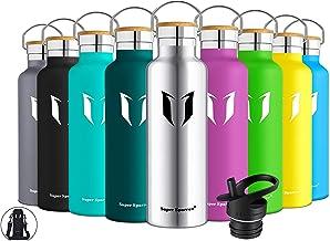 Super Sparrow Doppia Parete in Acciaio Inox coibentato Bottiglia di Acqua - 350ml & 500ml & 620ml & 750ml & 1L - Isolante della Borraccia - Perfetto Thermos - Privo di BPA, BPS, ftalati