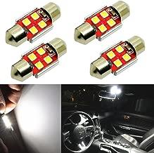 Alla Lighting 800 Lumens DE3175 DE3021 DE3022 LED Bulb Super Bright 6000K White 31mm(1.25