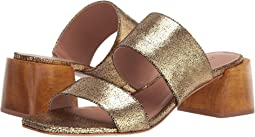 Gold Crackle Metallic Leather