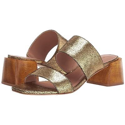 Bernardo Bri (Gold Crackle Metallic Leather) High Heels