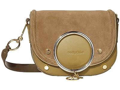 See by Chloe Mara Shoulder Bag (Safari Khaki) Handbags
