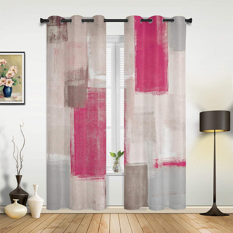 Window Ranking TOP9 Sheer Curtains for 5 ☆ popular Bedroom Living Pink Gray Graffiti Room